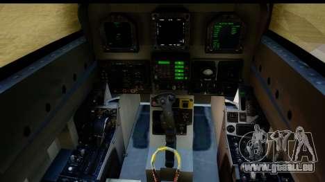 FA-18D VFA-103 Jolly Rogers pour GTA San Andreas vue intérieure