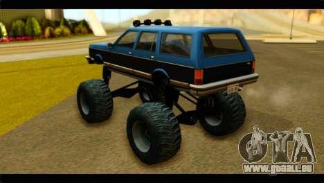 Monster Regina pour GTA San Andreas laissé vue