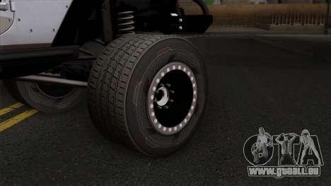 Jeep Wrangler 2013 Fast & Furious Edition für GTA San Andreas zurück linke Ansicht