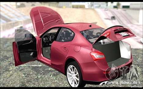 Maserati Ghibli 2014 für GTA San Andreas zurück linke Ansicht