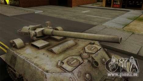T57 Self Propelled Gun pour GTA San Andreas vue de droite