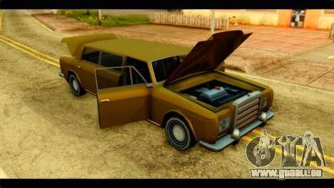 Stafford Limousine pour GTA San Andreas vue arrière