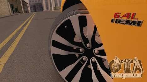 Dodge Charger SRT8 2012 Stock Version pour GTA San Andreas vue de droite