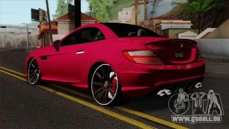 Mercedes-Benz SLK55 AMG 2012 pour GTA San Andreas laissé vue