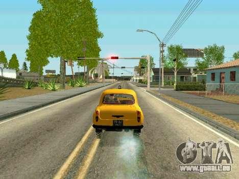 Moskvich 410 En pour GTA San Andreas sur la vue arrière gauche
