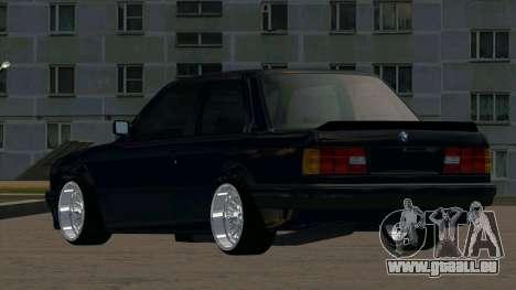 BMW M3 E30 pour GTA San Andreas sur la vue arrière gauche