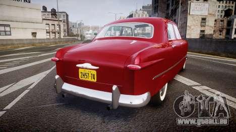 Ford Custom Fordor 1949 v2.2 pour GTA 4 Vue arrière de la gauche