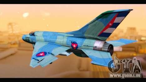MIG-21MF Cuban Revolutionary Air Force für GTA San Andreas linke Ansicht