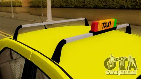 Dacia Logan Taxi für GTA San Andreas Rückansicht