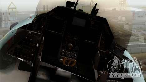 F-16C TNI Angkatan Udara für GTA San Andreas Rückansicht