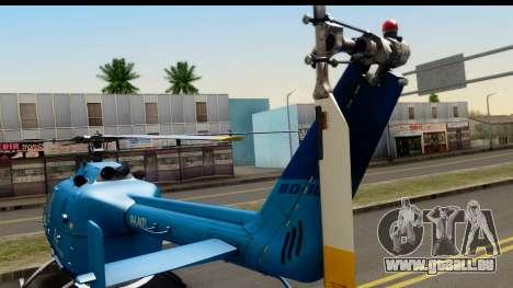 MBB Bo-105 KLM pour GTA San Andreas sur la vue arrière gauche