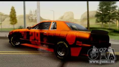 Elegy NASCAR pour GTA San Andreas sur la vue arrière gauche