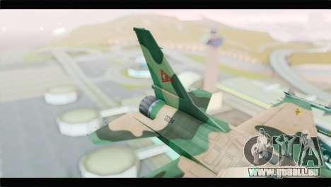 F-16A Fuerza Aerea Venezolana für GTA San Andreas zurück linke Ansicht
