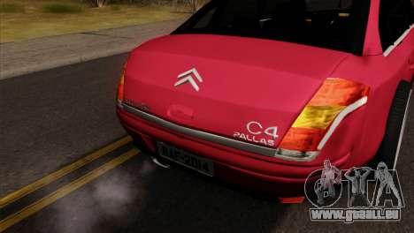 Citroen C4 Sedan für GTA San Andreas rechten Ansicht