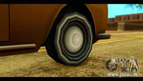 Stafford Limousine pour GTA San Andreas sur la vue arrière gauche