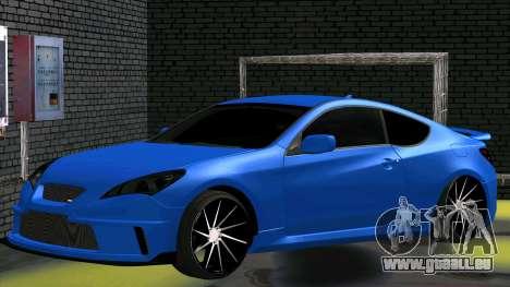 Hyundai Genesis Coupe für GTA San Andreas zurück linke Ansicht