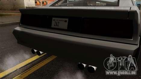 Buffalo Supercharged pour GTA San Andreas vue arrière