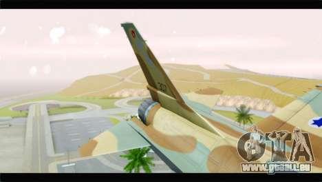 F-16A Netz für GTA San Andreas zurück linke Ansicht