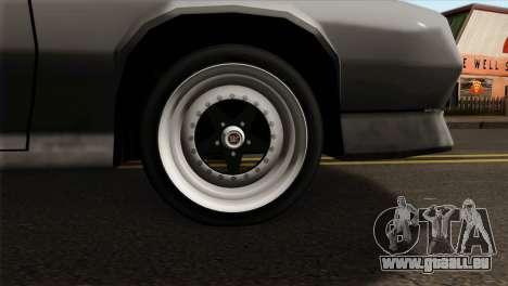 Buffalo Supercharged pour GTA San Andreas sur la vue arrière gauche