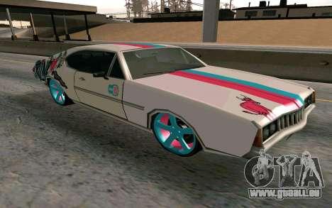 Clover Blink-182 Edition pour GTA San Andreas vue arrière
