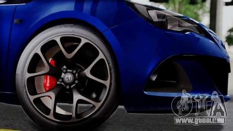 Vauxhall Astra VXR 2012 pour GTA San Andreas vue de droite