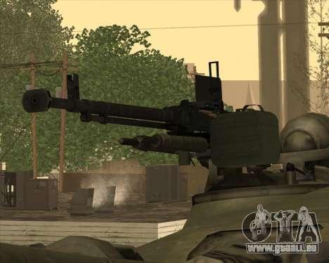 T-72 pour GTA San Andreas vue de côté