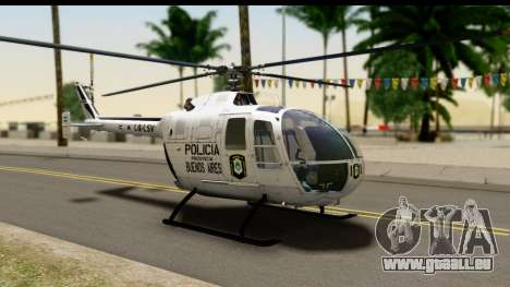 MBB Bo-105 Argentine Police pour GTA San Andreas