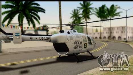MBB Bo-105 Argentine Police pour GTA San Andreas laissé vue