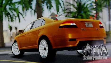 Vapid Interceptor v2 SA Style pour GTA San Andreas laissé vue