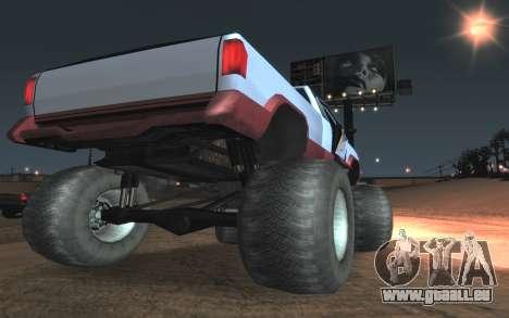 Neue Texturen Letzte Monster für GTA San Andreas Rückansicht