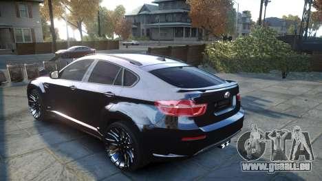 HAMANN BMW X6 2011 Tycoon EVO M v1.0 TSE pour GTA 4 Vue arrière de la gauche