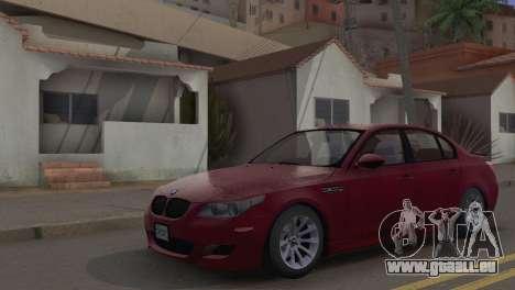 BMW M5 E60 2009 Stock für GTA San Andreas Rückansicht