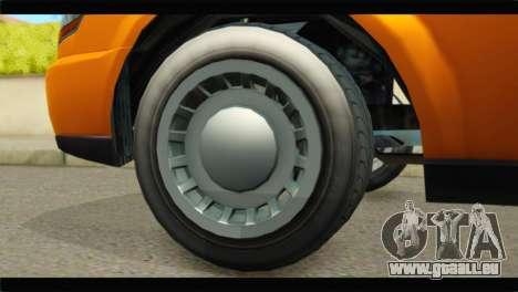 GTA 5 Dundreary Stretch pour GTA San Andreas sur la vue arrière gauche