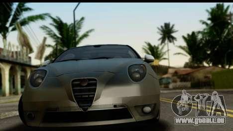 Alfa Romeo Mito Tuning pour GTA San Andreas sur la vue arrière gauche