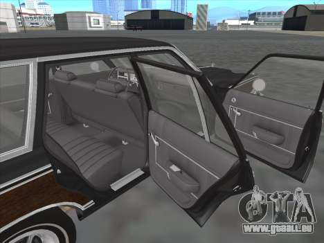Plymouth Volare Wagon 1976 wood pour GTA San Andreas vue intérieure