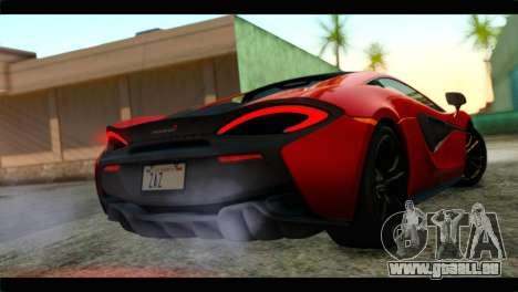 McLaren 570S 2015 pour GTA San Andreas laissé vue
