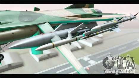 F-16A Fuerza Aerea Venezolana pour GTA San Andreas vue de droite