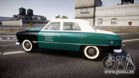Ford Custom Fordor 1949 New York Police für GTA 4 linke Ansicht