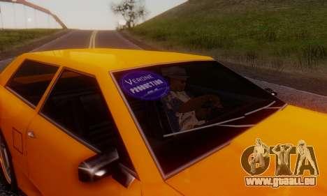 Elegy Hatchback v.1 für GTA San Andreas Rückansicht