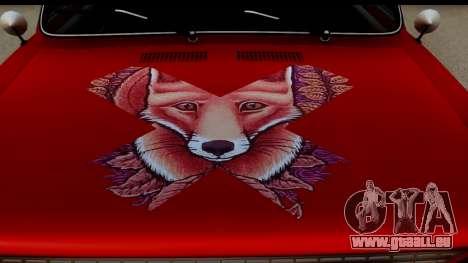 VAZ 2101 FOX für GTA San Andreas Rückansicht