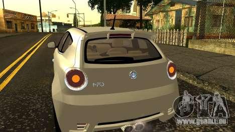 Alfa Romeo Mito Tuning pour GTA San Andreas vue de dessus