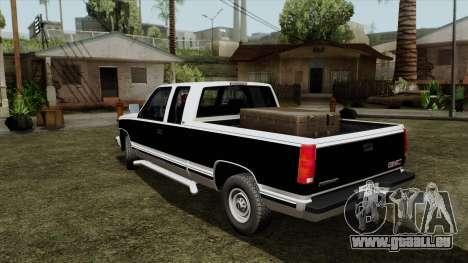 GMC Sierra 2500 1992 Extended Cab Final pour GTA San Andreas sur la vue arrière gauche