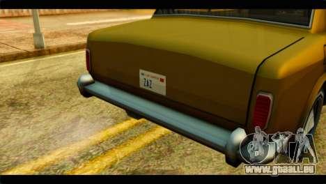 Stafford Limousine pour GTA San Andreas vue de droite