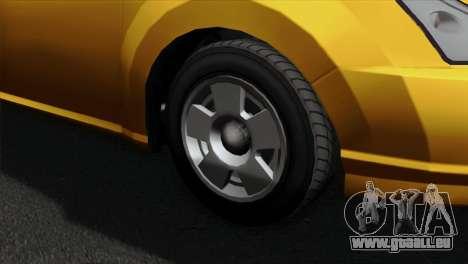 GTA 5 Karin Dilettante pour GTA San Andreas sur la vue arrière gauche