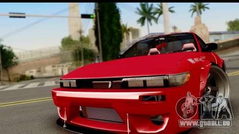 Nissan Silvia S13 Rocket Bunny pour GTA San Andreas sur la vue arrière gauche