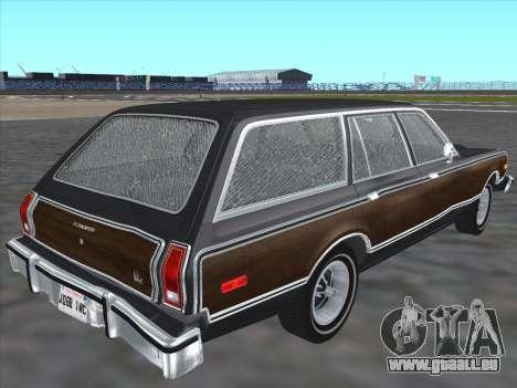 Plymouth Volare Wagon 1976 wood für GTA San Andreas zurück linke Ansicht