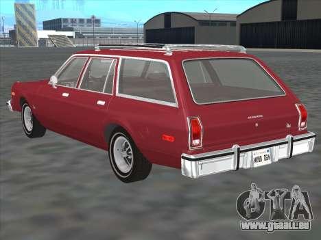 Plymouth Volare Wagon 1976 für GTA San Andreas zurück linke Ansicht