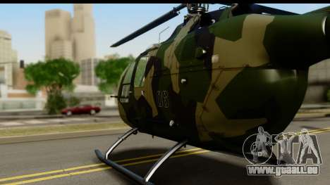 MBB Bo-105 Army für GTA San Andreas zurück linke Ansicht