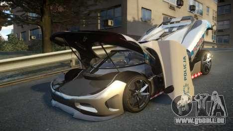 Koenigsegg Agera Polish Highway Patrol Police für GTA 4 Unteransicht