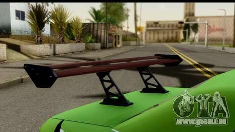 Elegy Leafa SAO Camber pour GTA San Andreas vue arrière
